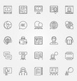 language learning outline icons vector image