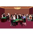 People In Casino vector image
