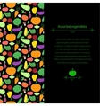 Vegetables background vector image