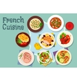 French cuisine icon for restaurant design vector image