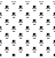 Mustache and cylinder pattern simple style vector image