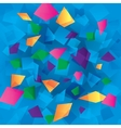 Colorful abstract background with rectangles vector image vector image