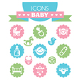 collection of universal baby icons vector image