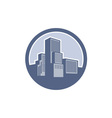 Urban Skyscraper Buildings Circle vector image