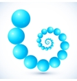 Blue abstract balls spiral vector image