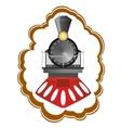 Vintage locomotive vector image vector image