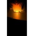 orange beach background vector image vector image