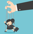 Business Woman marionette vector image