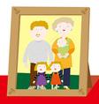 Happy family photo vector image