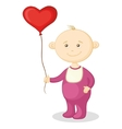 baby with a heart balloon vector image vector image