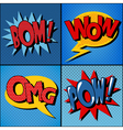 Set of Comics Bubbles in Vintage Style vector image