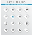 Active recreation icons set vector image
