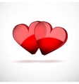 Background Two Hearts Happy Valentines Day vector image