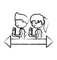cartoon man and woman vector image