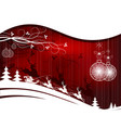 christmas red background with santa claus vector image