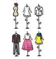 Display of various garments vector image