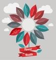 Flower healtf logo vector image