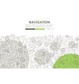 navigation Doodle Website Template Design vector image