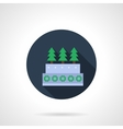 Round flat icon for Christmas baking vector image
