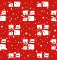 seamless christmas gift box present pattern vector image