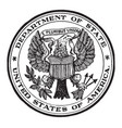 the seal of the state department of the united vector image