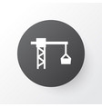 tower crane icon symbol premium quality isolated vector image