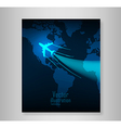 world travel map with airplanes book vector image