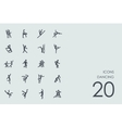 Set of dancing icons vector image