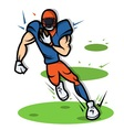 American Football Player cartoon with big muscle vector image