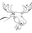 moose or eurasian elk line vector image