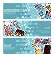 set of horizontal banners about confectionary
