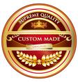 Custom Made Original Label vector image