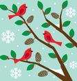 birds on tree vector image