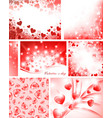 valentine collection vector image vector image