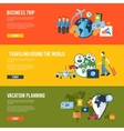 Travel concept flat banners vector image