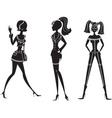fashion girls26 vector image vector image