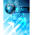 Blue business abstract background vector image vector image