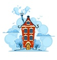 Winter fairy-tale house in vector image