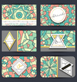 Business card set Card with geometric mandala vector image