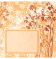 Background flowers and frame vector image vector image
