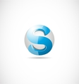 Alphabet letter S sphere 3d blue logo icon design vector image