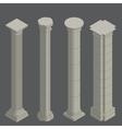 Classical columns isometric vector image