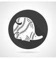 Coral fish black round icon vector image