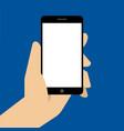 hand holing black smartphone vector image