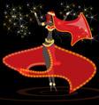oriental girl dancer vector image