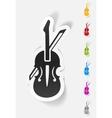 realistic design element violin vector image