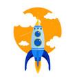 rocket quick flies in sky vector image