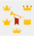royal gold crown vector image