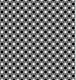 Seamless monochrome circle pattern background vector image
