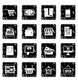 Shopping set icons grunge style vector image